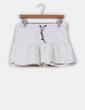 Mini falda vaquera blanca avolantada Tommy Hilfiger