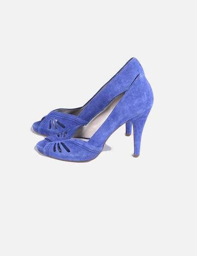 5d84095b0a358 Zara Sandalias azules con tacón (descuento 77%) - Micolet