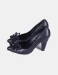 Zapato negro lazo Pura López