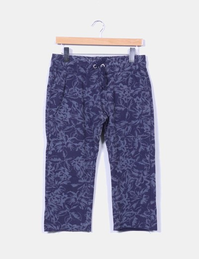 Pantalon azul pirata estampado