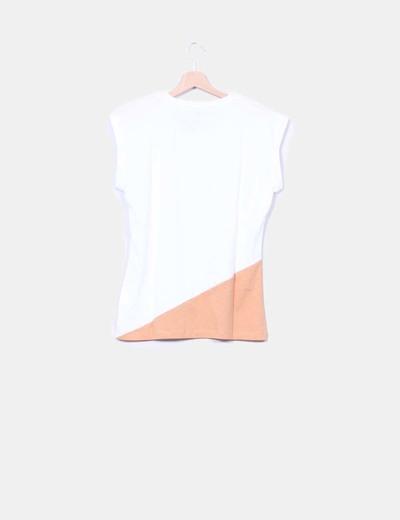 Camiseta bicolor manga corta