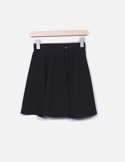 Minifalda negra texturizada