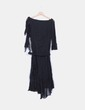 Vestido negro asimétrico Studio Classics
