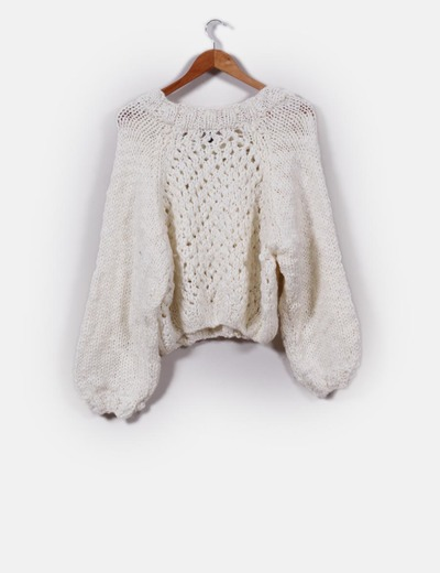 d088041c5ff8 H&M Jersey lana blanco crudo (descuento 66 %) - Micolet