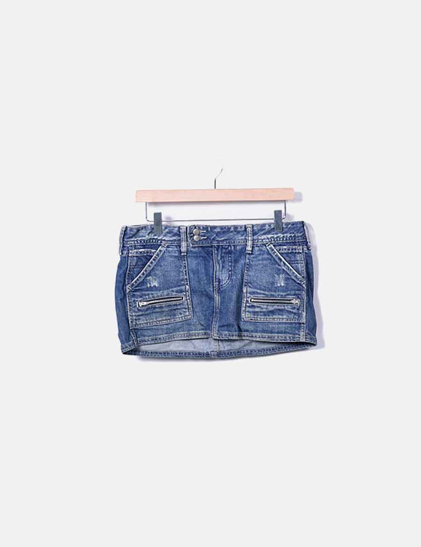 Zara denim Faldas Minifalda online baratas azul qf4UZ for whoop ... 2c8392eee547