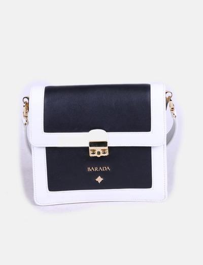 Bolso mini estructurado blanco y negro BARADA