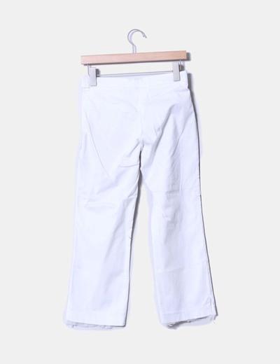 Pantalon blanco print