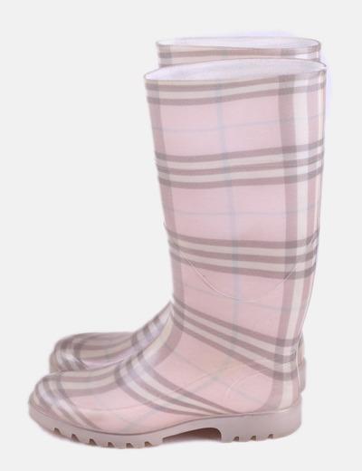 Bota de agua rosa cuadros