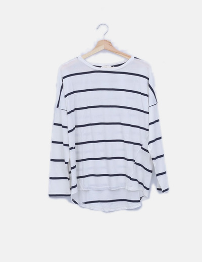 Camiseta blanca navy