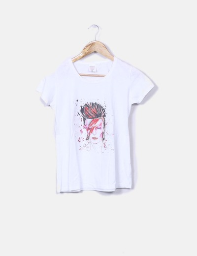 T-shirt blanc imprimé NoName