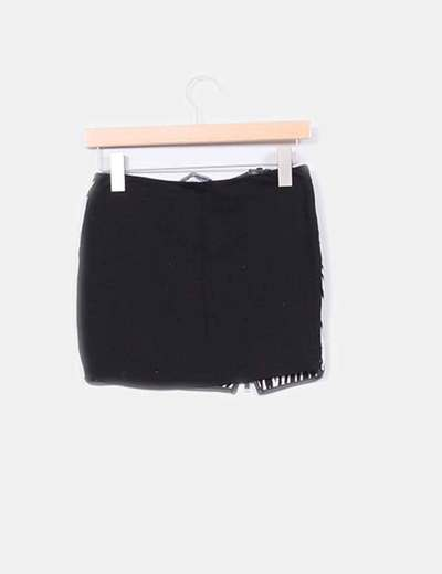 Falda animal print elastica