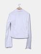 Blusa blanca con cremallera EDERA