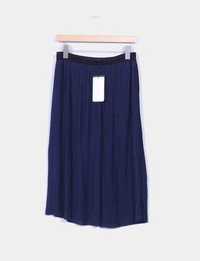88bd05e1f Falda plisada azul marino con cintura elástica