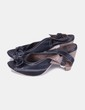Zapatos negros peep toe destalonados Alpe