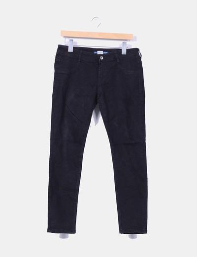 Pantalón denim negro Pull&Bear