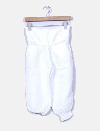 Pantalón de lino bombacho blanco  NoName