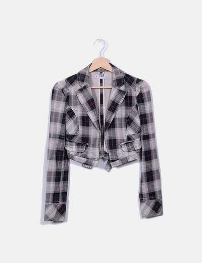 128e475939a3 Giacca Di sconto 84 Zara Jeans La Quadri Micolet A CAxnOwqUt6 in ...
