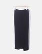 Falda negra detalle cruzado Bershka