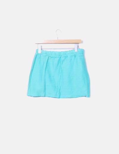 Mini falda texturizada mint