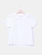 Blusa blanca troquelada Lefties