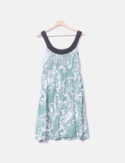 Vestido verde floral Hoss Intropia