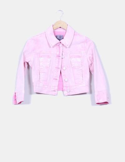 forma elegante renombre mundial Página web oficial Chaqueta vaquera rosa