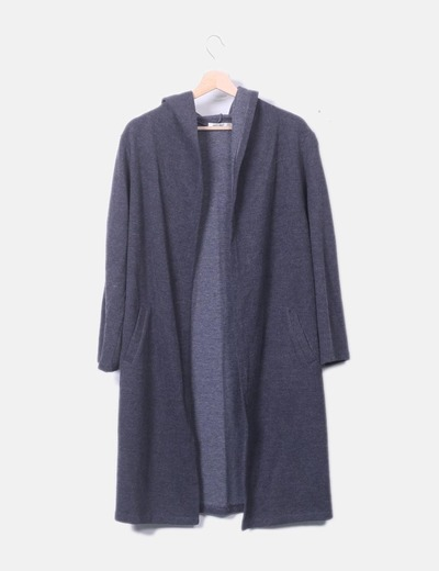 Cardigan tricot con capucha