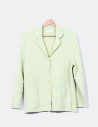 Chaqueta de lana verde pistacho NoName