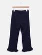 Pantalón azul marino texturizado con volante Kling