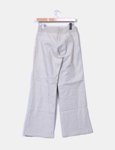 Pantalon de lino beige