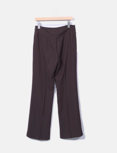 Pantalon recto marron