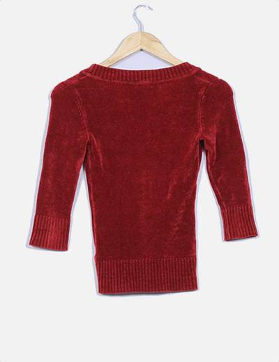 Jersey de terciopelo color calera