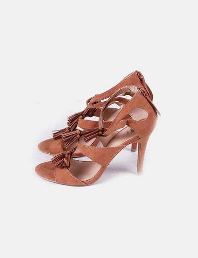 Sandales marrons frangées H&M