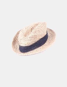 Sombrero rafia lazo crochet Sfera 05149a1ccf74