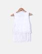 Top encaje blanco con flecos may & Co