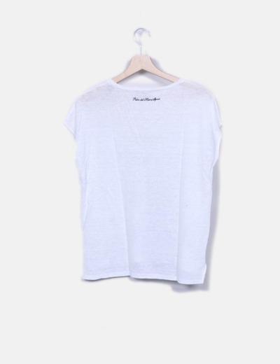 Camiseta blanca manga corta