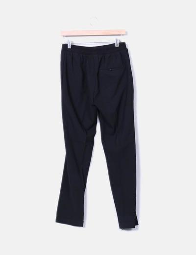 Pantalon pinzas negro