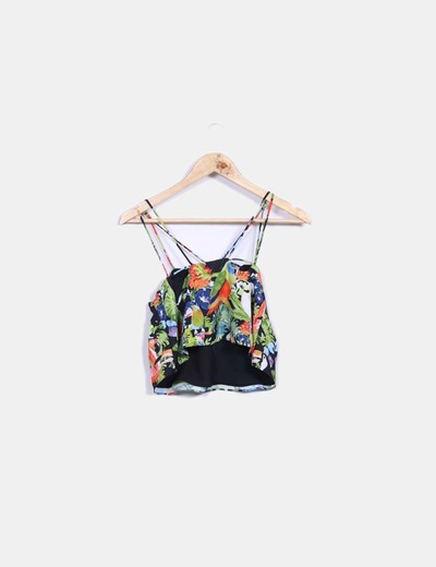 Crop top tropical Topshop