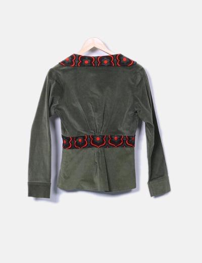 Blazer micropana verde