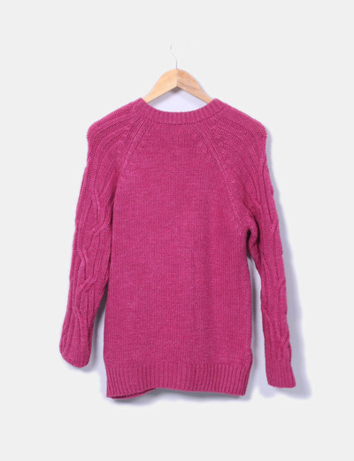 Jersey punto ochos rosa