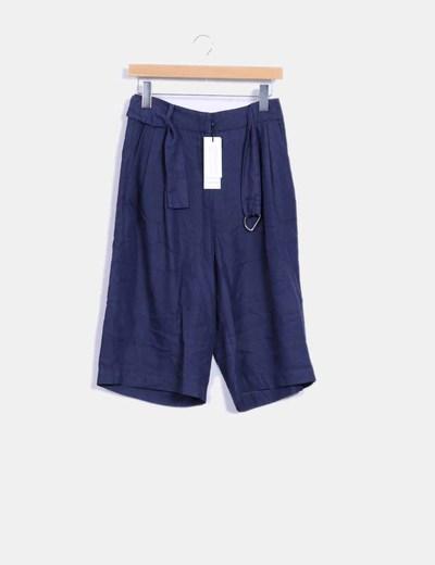 Pantalón culotte azul marino Vero Moda