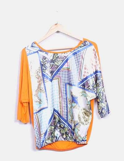 Camiseta multicolor de manga larga