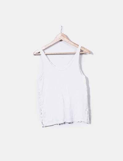 Camiseta cruda con encaje