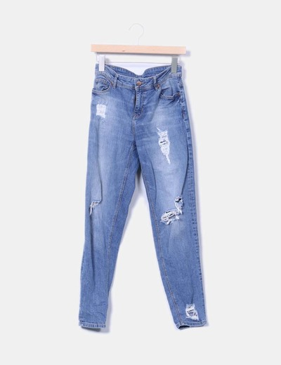 Pantalón denim ripped H&M