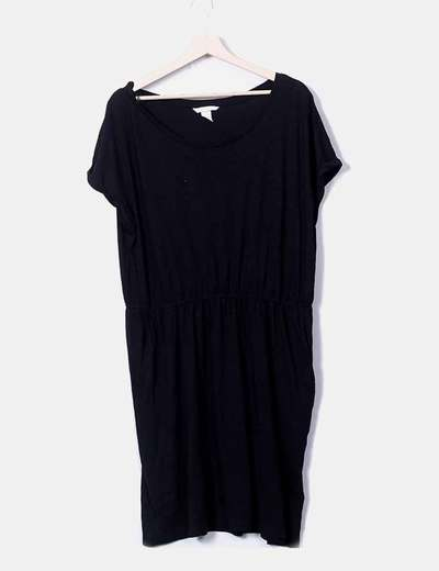 Basic black fluid dress H&M