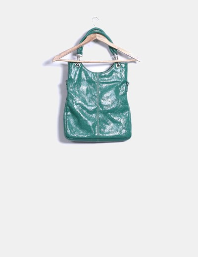 Bolso verde texturizado