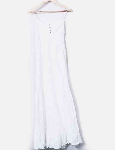 Vestido tirantes blanco maxi Pull&Bear