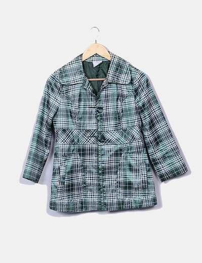 Giacca Micolet A Quadri Verde Zara 88 sconto qaz7Rnfw
