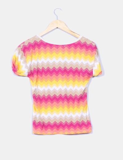 Camiseta estampado zig zag