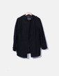Abrigo negro con capucha Zara